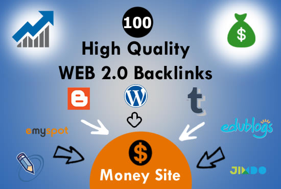 manually create high da super web 2 0 backlinks