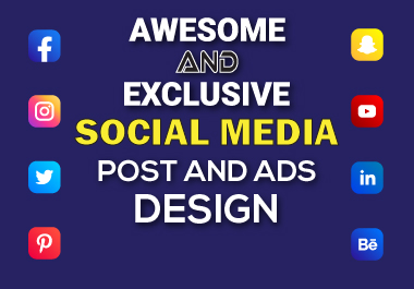 I can design awesome and exclusive social media post, banners and ads in any size.
