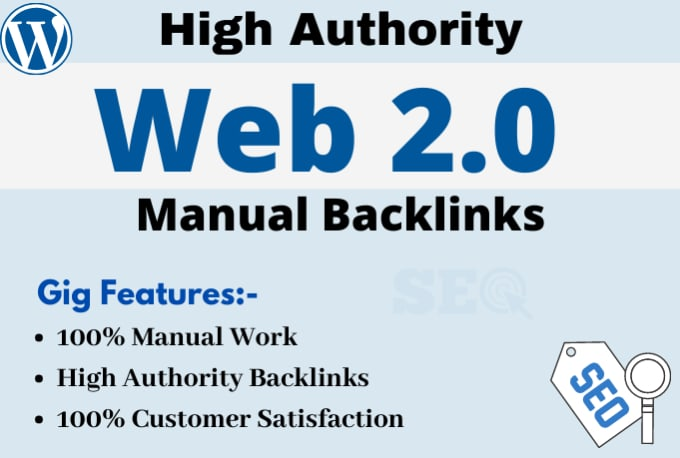 I will create 50 high quality web 2 0 backlinks manually