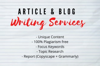 I will write a high quality blog post 1500 words for you