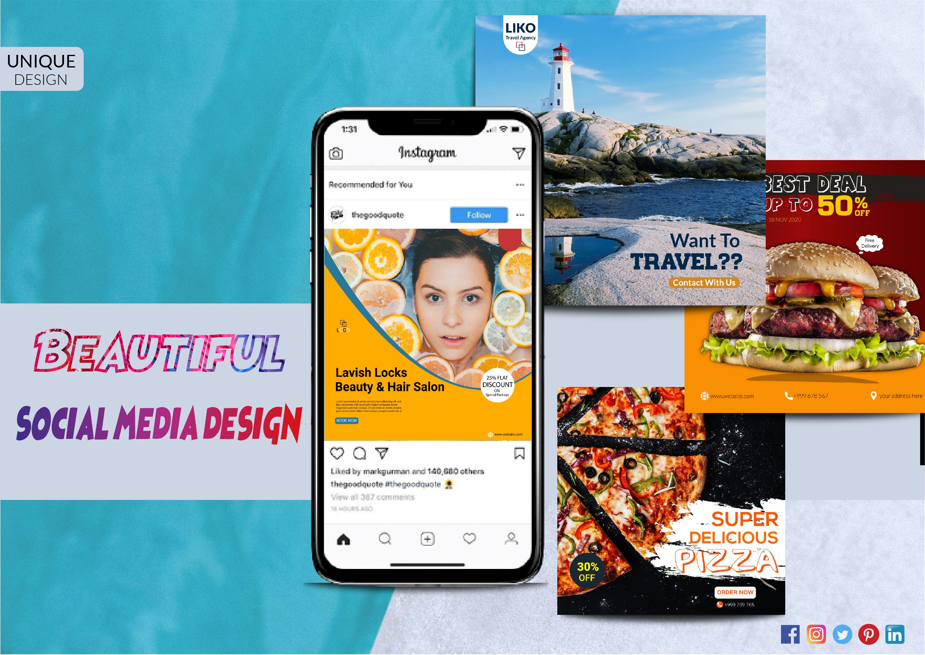 I will create you a beautiful Instagram / Facebook social media design