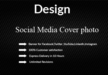 I will Design Professional Facebook or Instagram or twitter Cover Photo Banner.