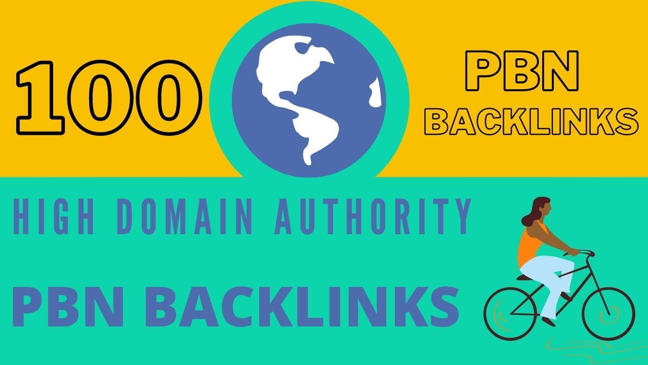 Manually create 100 high domain authority pbn backlinks