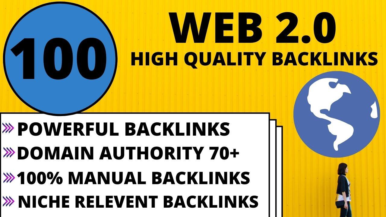 Create 100 high quality web 2 0 backlinks for google ranking