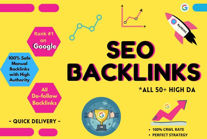 build 50 high da SEO backlinks high quality profile links