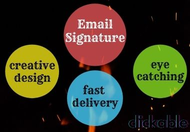I will art & design professional clickable email signature