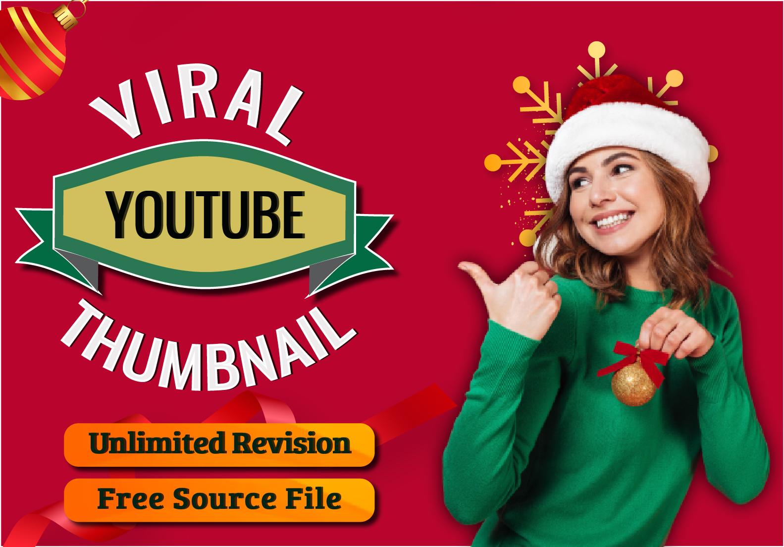 I will create a viral you tube thumbnail design