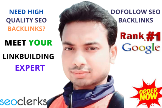 I will build high quality dofollow SEO backlinks for google top ranking