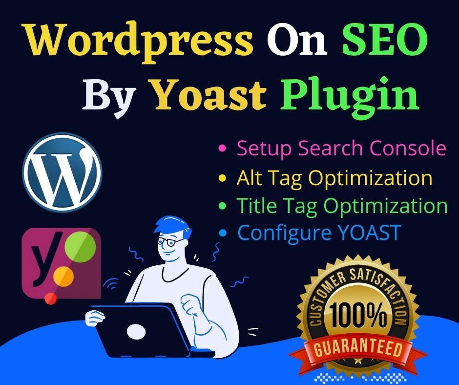 I will do WordPress On Page SEO by Yoast SEO Plugin