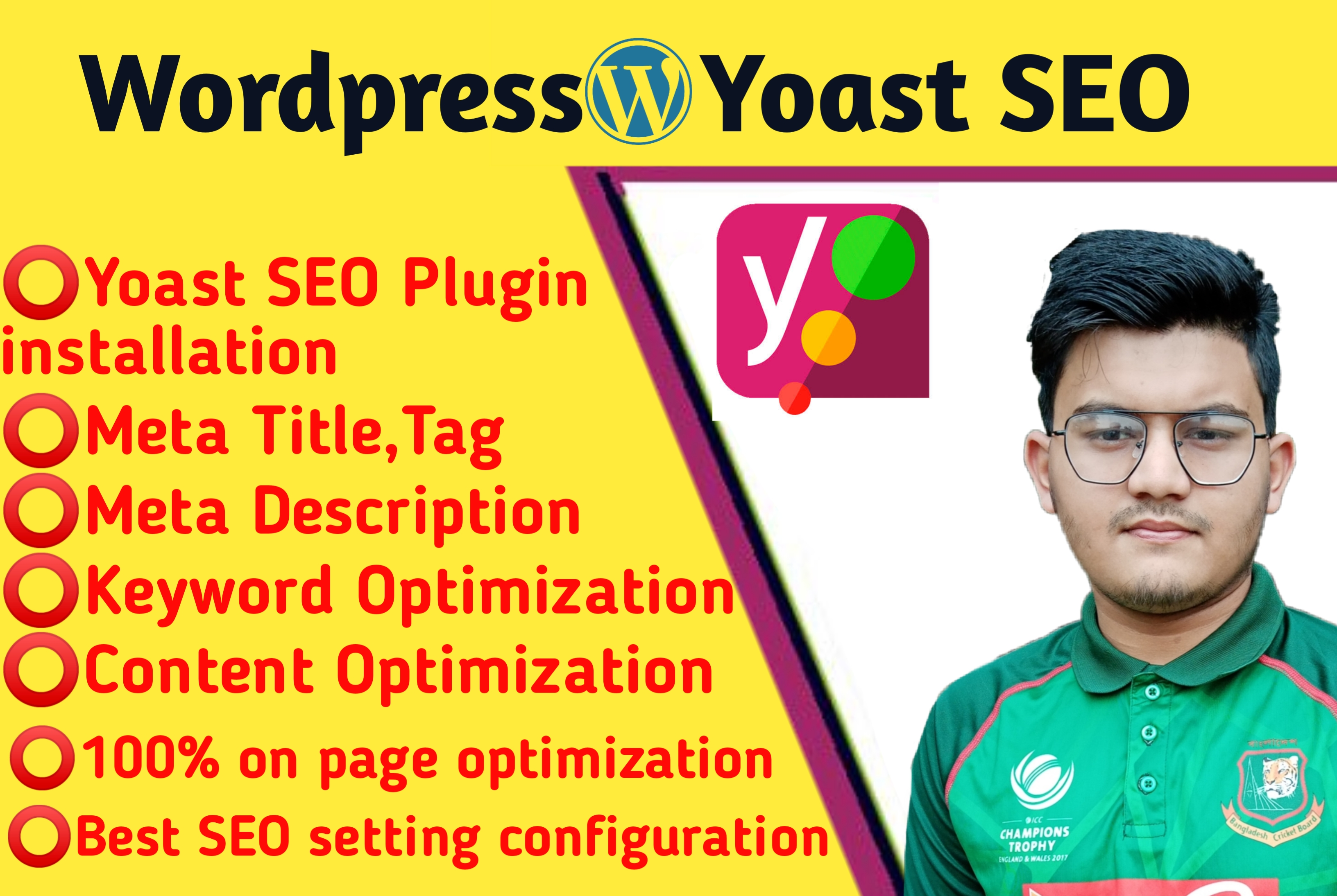 I wil Install & Setup Yoast WordPress SEO plugin And Do Onpage SEO Optimization