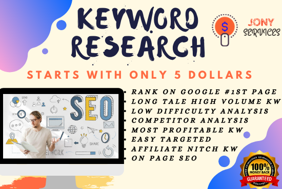 I will do excellent SEO keyword research to rank your site first