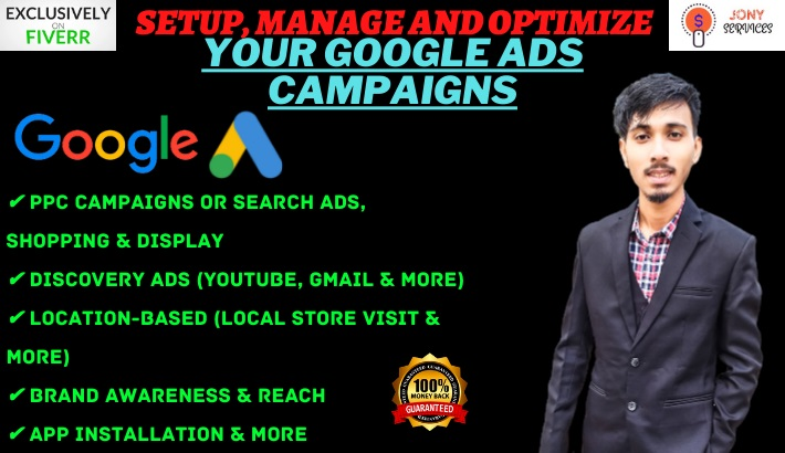 I will setup,  manage and optimize your google ads,  adwords campaigns