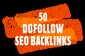 I will do 50 high pr authority dofollow SEO backlinks link building