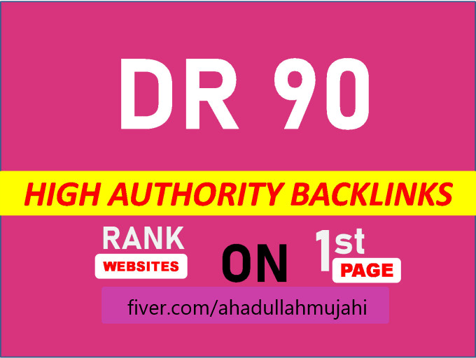 Create permanent DR 90 backlinks for off page SEO