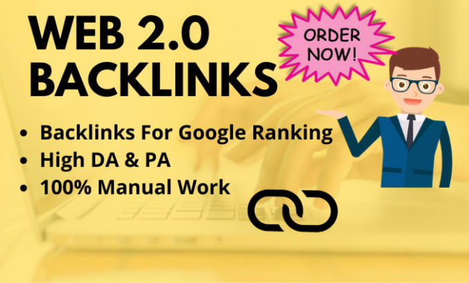 Create 250 high quality web 2 0 backlinks manually