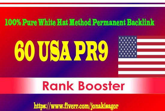 permanent 60 USA pr9 high quality seo safe authority link building backlink