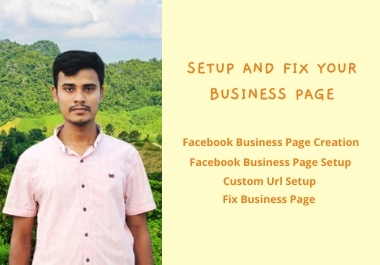 I will provide you facebook business page create and problem fix services