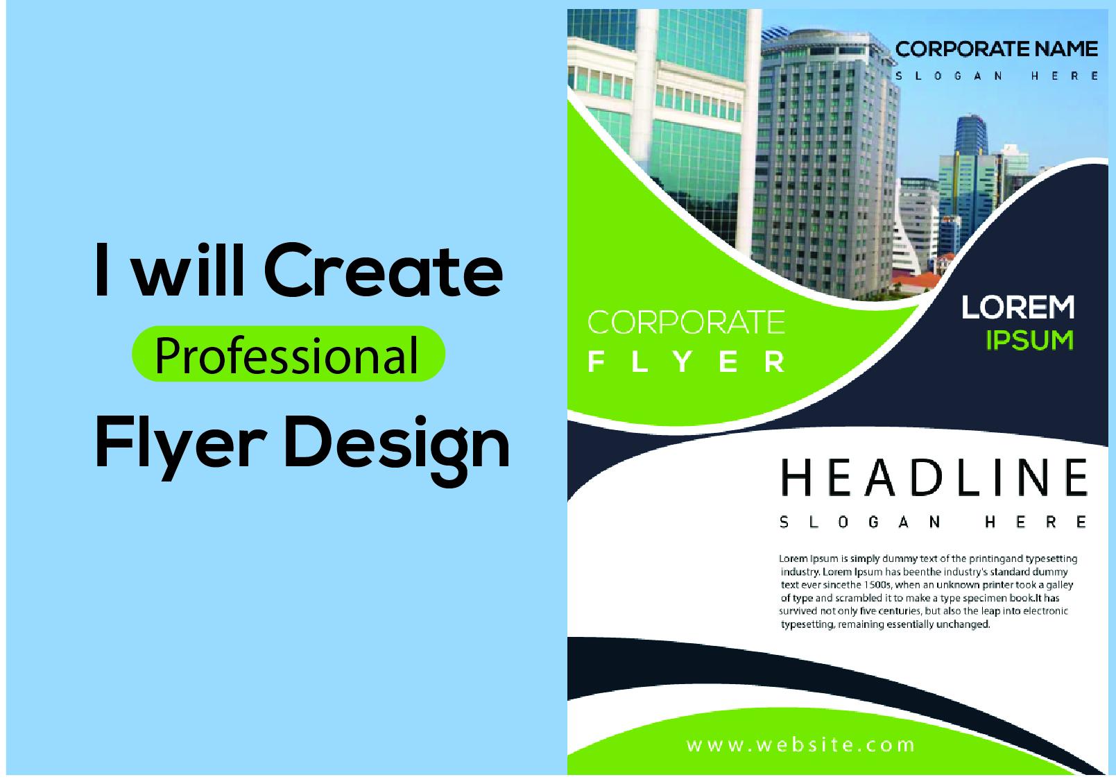 I will create a attractive professional flyer design