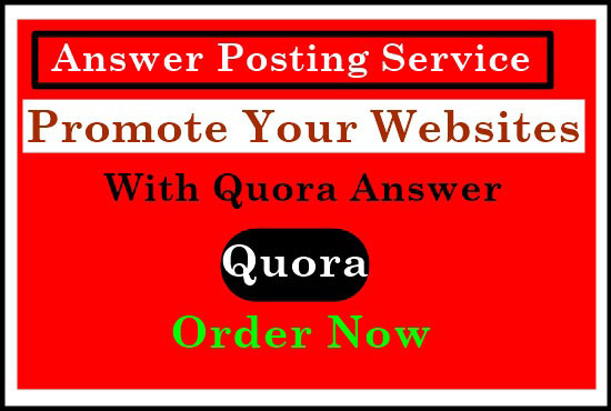 Offered HQ traffic with 50 Quora Answers
