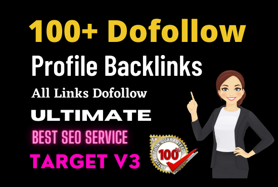 Manually Create 100+ pr9 da 90 dofollow profile backlinks