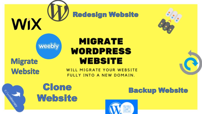 I will migrate,  backup website in new domain