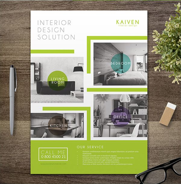 I will attractive design for your brochure and flyer.
