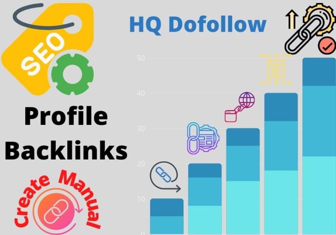 I will create manually HQ dofollow profile backlinks