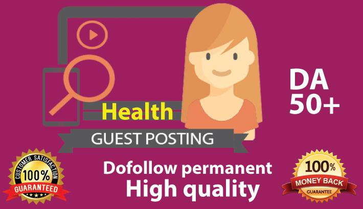 Health guest post on DA 50 plus.