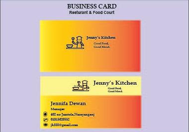 I will create minimalist business card