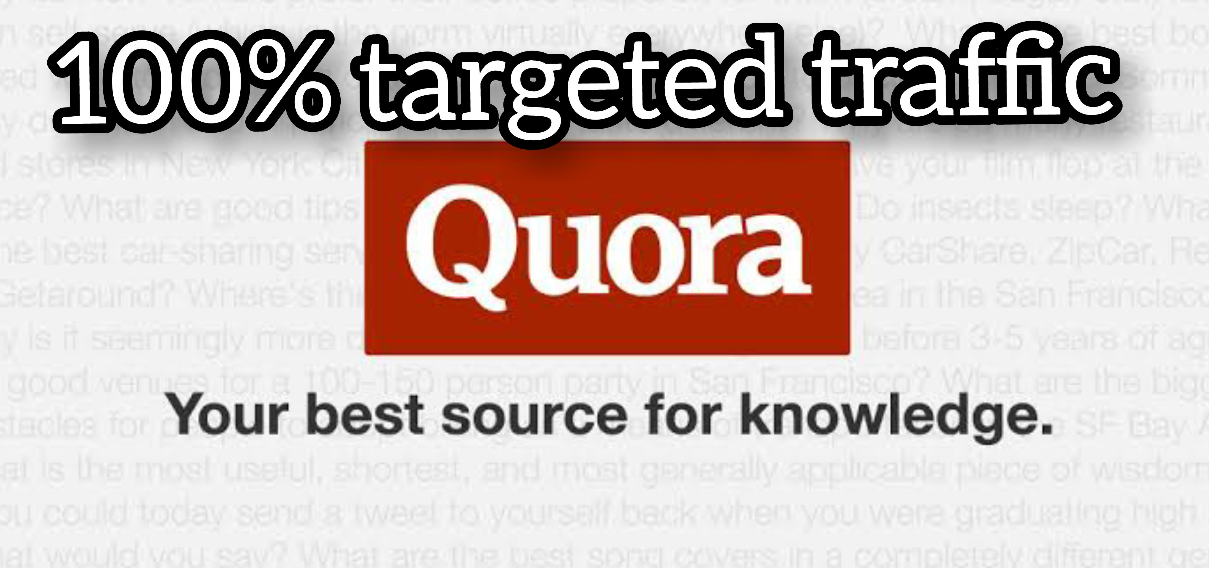Targeted 20 Quora Answer with URL and Keyword