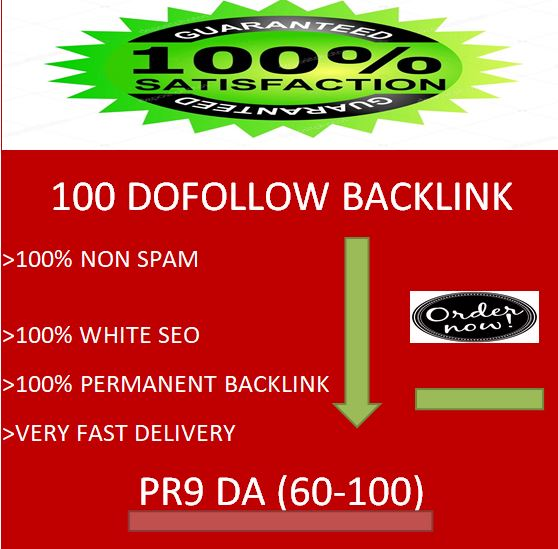 i will provide 100 dofollow backlink with PR9 & DA 60-100 for seo ranking.