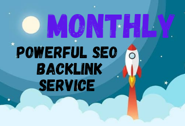 provide monthly powerfull seo backlink service for ranking website.