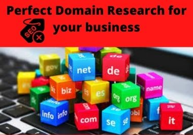 I will search perfect domain for your business