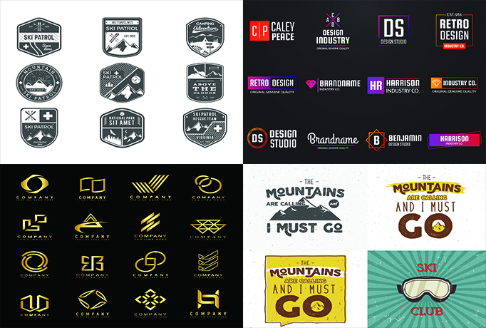 design minimalist and simple logo and graphics