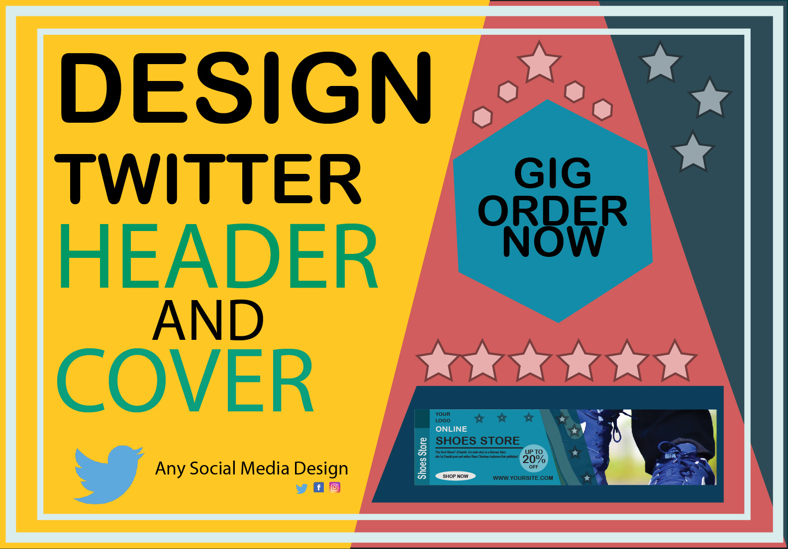 I will create awsome twitter header and cover design in 24 hours