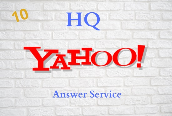 I will Provide 10 High Quality Yahoo answer with your keyword & URL