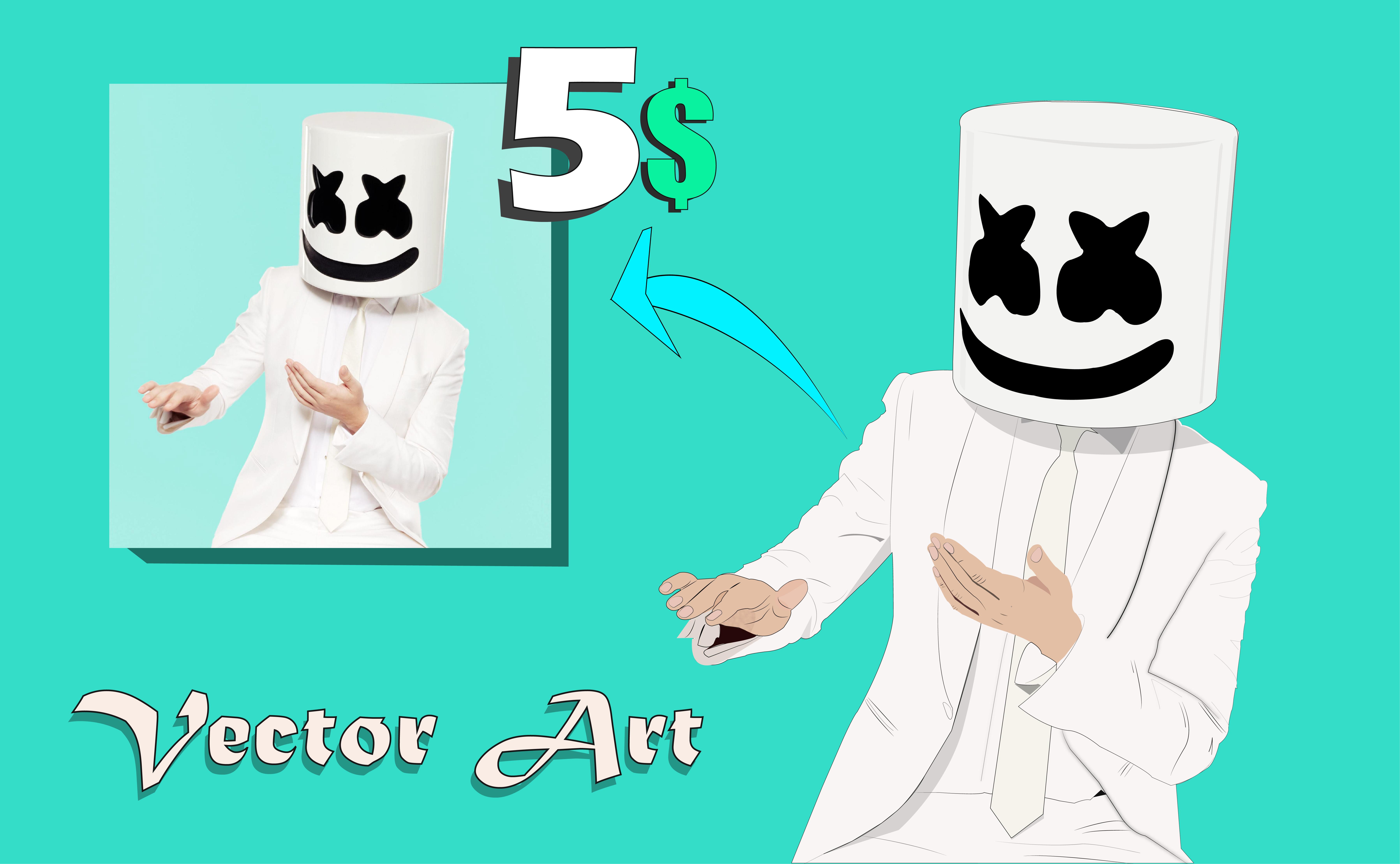 I will design a vector cartoon and vector arts