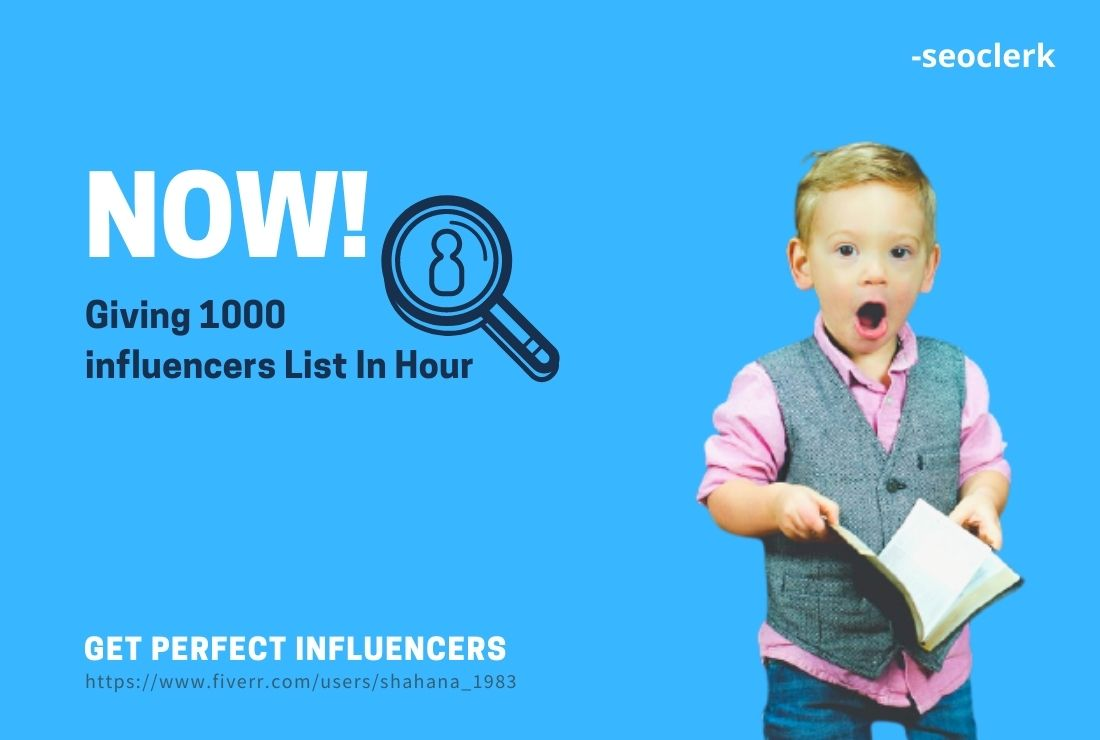 I will give you 1000 emails of ig influencers in 1 hour