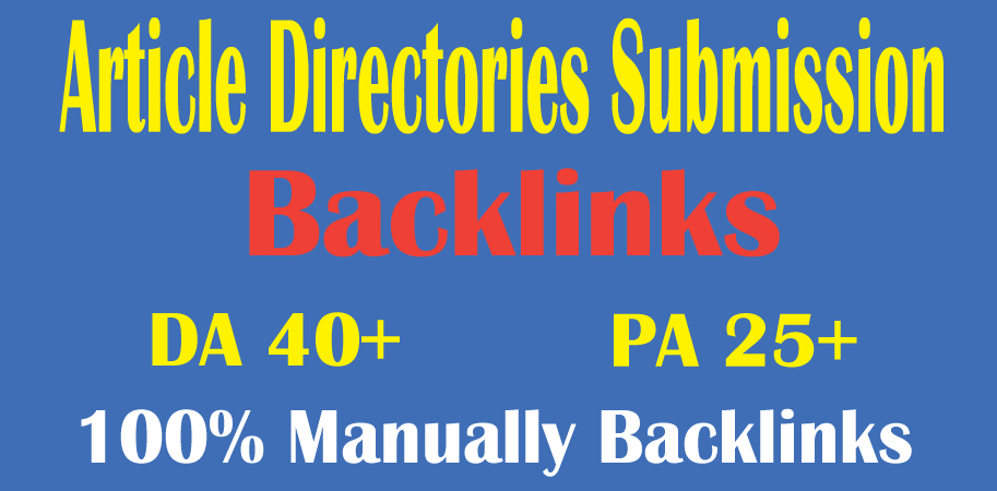 I will do 20 article submission on high quality backlinks