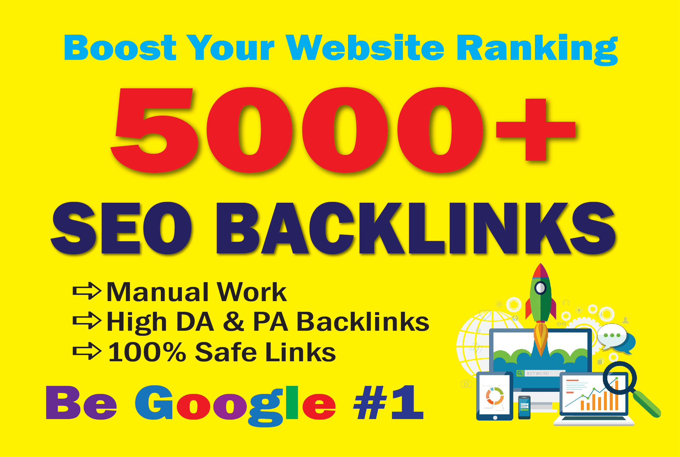 build high da 5000 SEO backlinks for new website