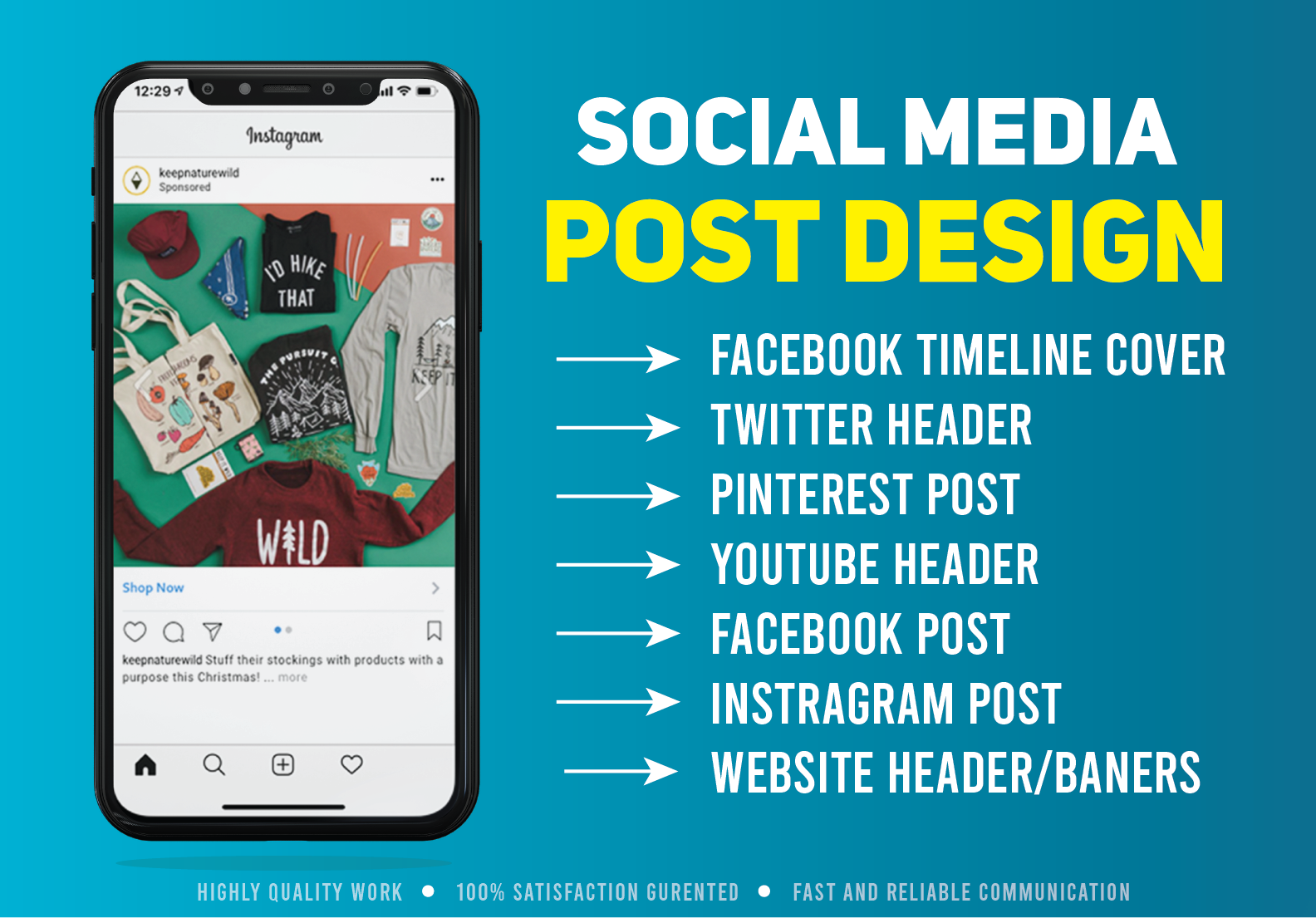 I Will Create any kind of Social Media Post Include Facebook Cover And Post Design