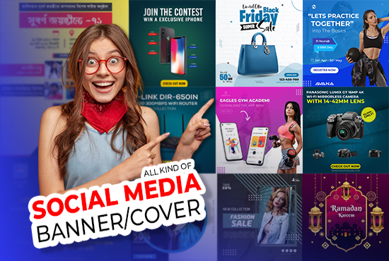 I will create all kind of social media post include facebook banner design