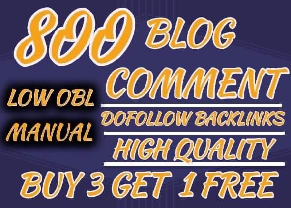 I will do 800 high quality blog comments backlinks