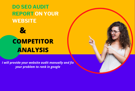 I will provide seo audit report and fix it