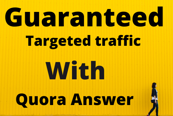 I will provide you 50 Quora answer with backlink