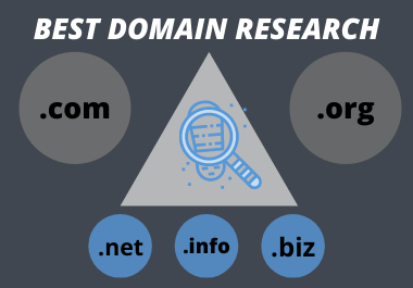 I will find and research best domain name for your business