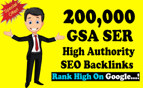 I will build 2,00000 gsa dofollow backlinks for google ranking