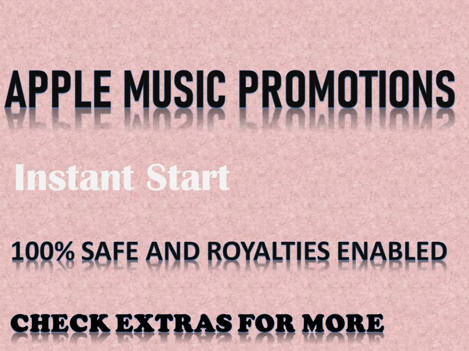 Apple Music Promotions Pack Via Social Media Marketing
