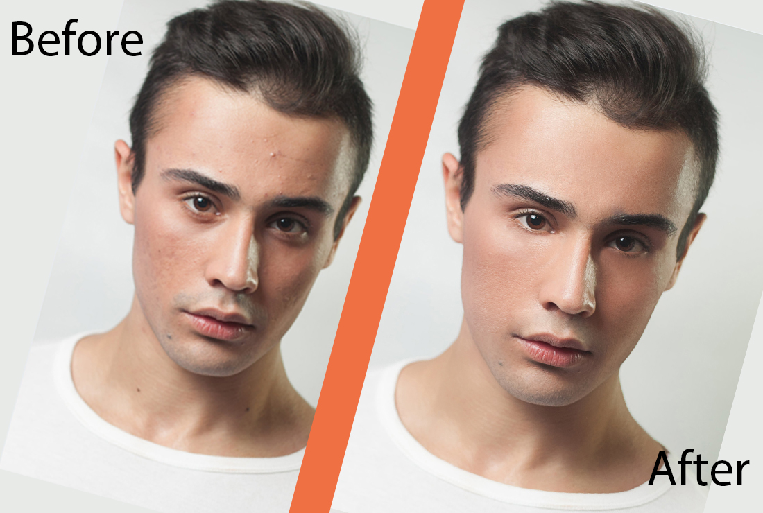 I will professionally full high end skin retouching your photo,  per image up to 1 dollar.