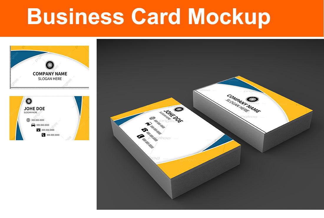 Logo or Business card 3D mockup